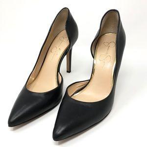 Jessica Simpson Claudette Leather d'Orsay Pumps